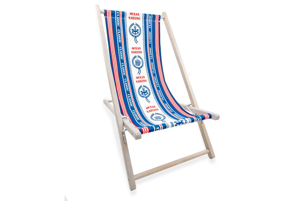 leżaki z nadrukiem drewniane plażowe